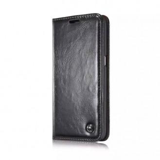 Galaxy S7 Luxus Wallet Leder BookCase Schutz Etui
