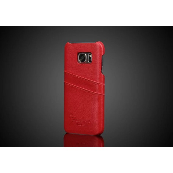 Galaxy S7 Wallet Card Leder Case Rot