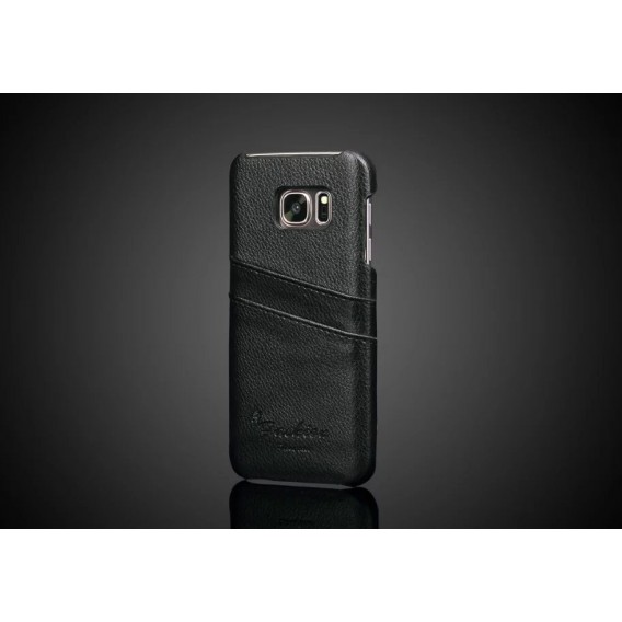Galaxy S7 Wallet Card Leder Case Schwarz
