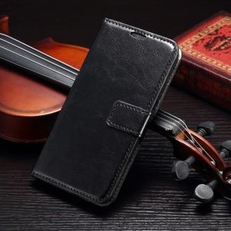 Schwarz Book Wallet Leder case Galaxy s7 Edge