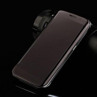 Schwarz Flip View Spiegel Case Galaxy S7 Edge