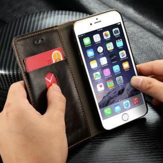 Galaxy S7 Luxus Wallet Leder BookCase Etui