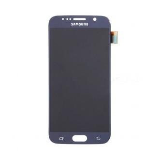 Orginal Samsung Galaxy S6 Ersatzdisplay LCD + Digitizer Front Dunkelblau