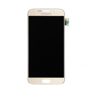 Orginal Samsung Galaxy S6 Ersatzdisplay LCD + Digitizer Front Gold