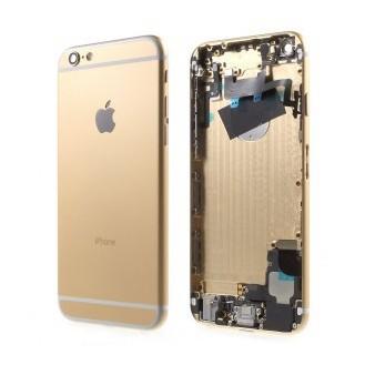 iPhone 6 Alu Backcover / Mittelrahmen + Tasten vormontiert - Gold A1549, A1586, A1589