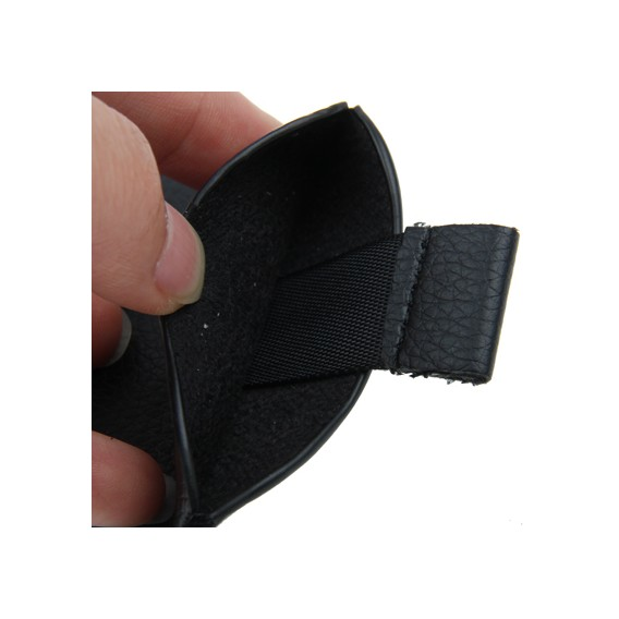 Schwarz Leder Beutel Etui iPhone 5 / 5S / SE