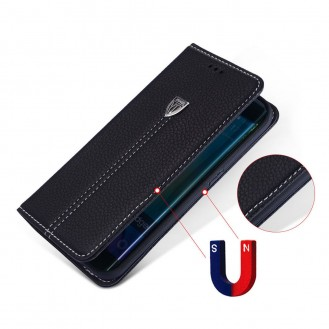 Xundo Kreditkarte Leder Etui Galaxy S7 Edge Schwarz