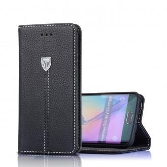 Xundo Kreditkarte Leder Etui Galaxy S7 Schwarz
