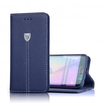 Xundo Kreditkarte Leder Etui Galaxy S7 Edge Blau