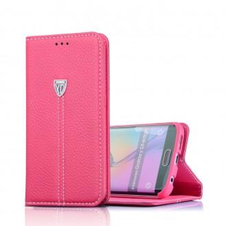 Xundo Kreditkarte Leder Etui Galaxy S7 Edge Pink