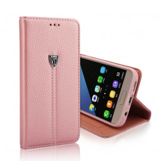 Xundo Kreditkarte Leder Etui Galaxy S7 Rosa Gold