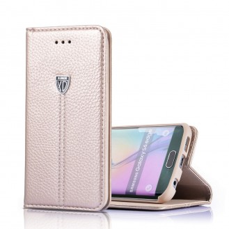 Xundo Kreditkarte Leder Etui Galaxy S7 Gold