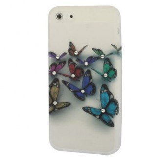 Butterfly mit Strass TPU Silikon Cover Case iPhone 5 / 5S