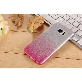 Ultra dünne weiche TPU Silikon Abdeckung Galaxy S7 mit Verlauf Pink