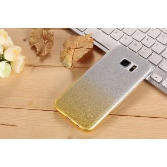 Ultra dünne weiche TPU Silikon Abdeckung Galaxy S7 Edge mit Verlauf Gold