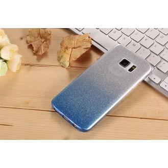 Ultra dünne weiche TPU Silikon Abdeckung Galaxy S7 Edge mit Verlauf Blau
