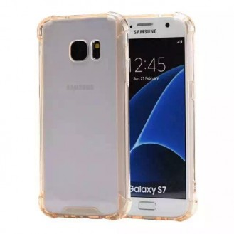 Clear shock proof Cover Galaxy S7 Gold