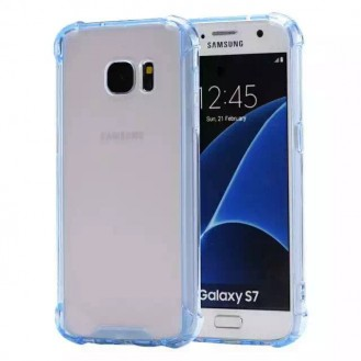 Clear shock proof Cover Galaxy S7 Blau