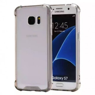 Clear shock proof Cover Galaxy S7 Schwarz