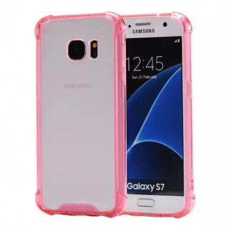 Clear shock proof Cover Galaxy S7 Pink