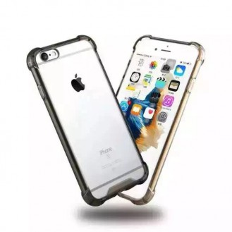 Clear shock proof Cover iPhone 6 Plus/ 6s Plus Schwarz