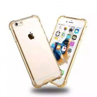 Clear shock proof Cover iPhone 6 Plus / 6s Plus Gold