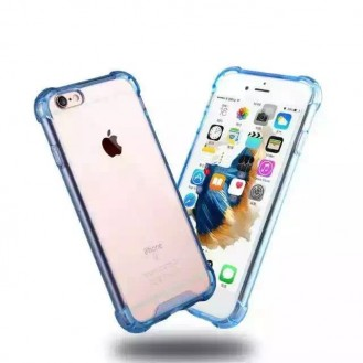 Clear shock proof Cover iPhone 6 Plus / 6s Plus Blau