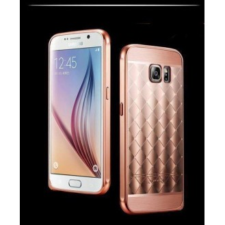 Galaxy S6 Edge Rose Gold LUXUS Aluminium Spiegel Bumper