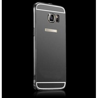 Galaxy S6 Edge Schwarz LUXUS Aluminium Spiegel Bumper