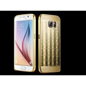 Gold LUXUS Aluminium Spiegel Bumper Galaxy S6 Edge