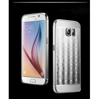 Silber LUXUS Aluminium Spiegel Bumper Galaxy S6 Edge
