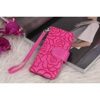 Book Wallet Flip Leder Tasche  Hülle mit Kartenfach Rosa