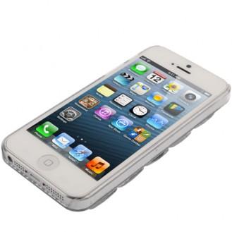 Silber 3D Bling Chrom Strass Case iPhone 5 / 5S / SE