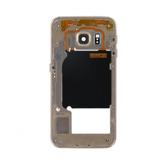 Mittelrahmen Gehäuse Frame Housing Gold Galaxy S6 Edge G925F