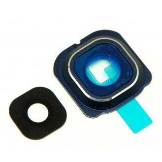 Galaxy S6 Edge Kamera Linse Glas + Abdeckung Blau