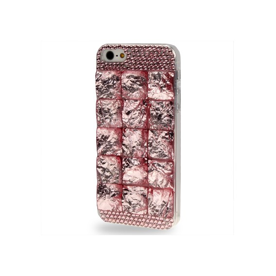 Rosa 3D Bling Chrom Strass Case iPhone 5 / 5S / SE