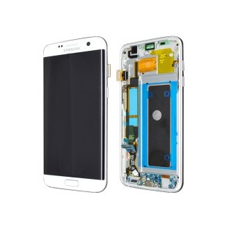 Original LCD Display Samsung G935F Galaxy S7 Edge full set Weiss