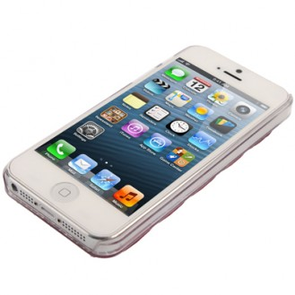 Rosa 3D Bling Chrom Strass Case iPhone 5 / 5S / SE
