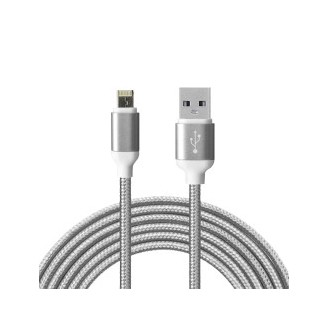 2in1 Datenkabel Apple + MicroUSB Grau