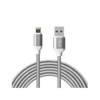 2in1 Datenkabel  Apple + MicroUSB Grau