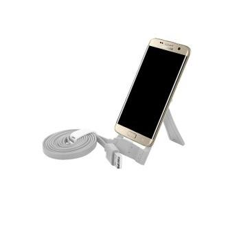 Datenkabel Micro USB mit Standfunktion Grau