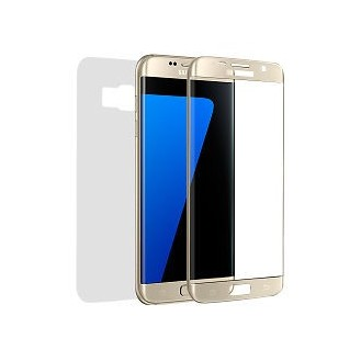 Panzerglas Fullcover Galaxy S7 EDGE Gold