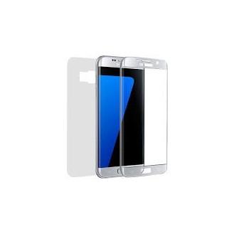 Panzerglas Fullcover Galaxy S7 EDGE Silber