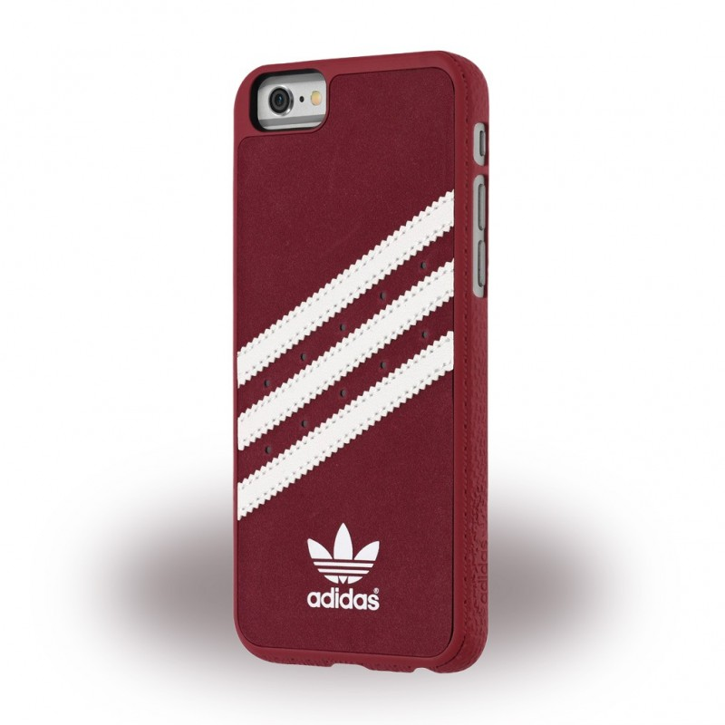 Adidas Moulded Suede Hard Case Schutzhülle iPhone 6, 6s Rot