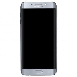 Samsung Galaxy S 6 Edge+ Oberschale & LCD Display - Silber