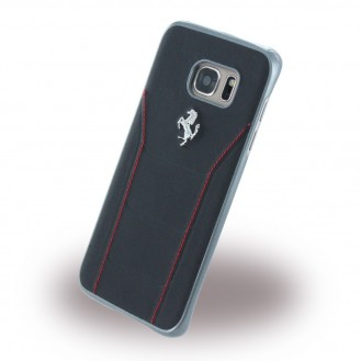 Ferrari - 488 Leder Hard Cover Galaxy S7 Edge Schwarz