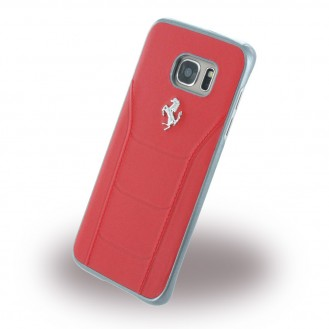 Ferrari - 488 Leder Hard Cover Galaxy S7 Edge Rot