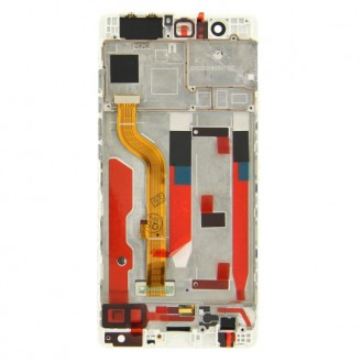 Huawei Ascend P9 LCD Display Touchscreen mit Rahmen Weiss