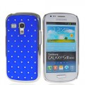 Bling Strass Glitzer Case Galaxy S3 Mini Dunkel Blau