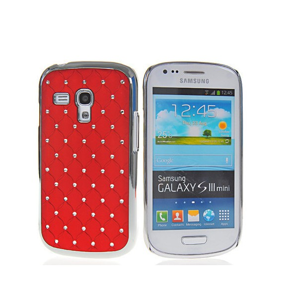 Bling Strass Glitzer Case Galaxy S3 Mini Rot